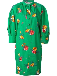 Yves Saint Laurent Vintage Floral Print Shirt Dress