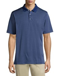 Callaway Micro Dot Short Sleeve Polo Shirt Blueprint