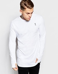 Religion Longline Long Sleeve Top White