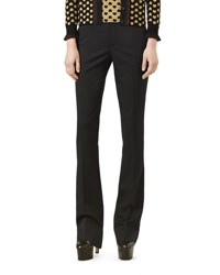 Gucci Wool Skinny Flare Pants Black