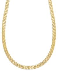 Giani Bernini 24K Gold Over Sterling Silver Necklace Braided Necklace