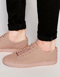 Asos Lace Up Trainers In Pink Pink