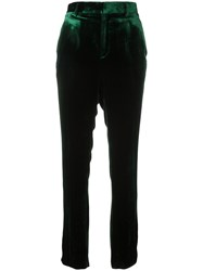 Haider Ackermann Velvet Trousers Green