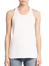 Vince Bonded Laser Cut Tank Top Off White Black