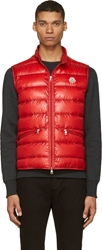 Moncler Red Quilted Down Gui Vest