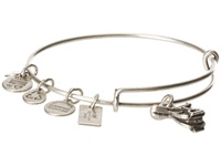 Alex And Ani Horse Saddle Ii Charm Bangle Rafaelian Silver Finish Bracelet