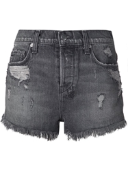 Ksubi Faded Distressed Jeans Shorts