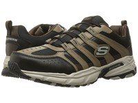 Skechers Stamina Plus Rappel Brown Black Men's Lace Up Casual Shoes