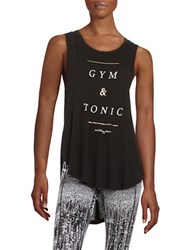 Betsey Johnson Gym And Tonic Tank Black