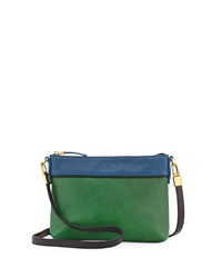 Hare Hart Togo Colorblock Pouch Crossbody Bag Hunter Green Royal Blue