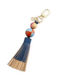 Dipped Tassel Key Fob Bag Charm Tidal Wave Women's Tory Burch