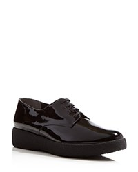 Robert Clergerie Feydo Lace Up Platform Oxfords Black