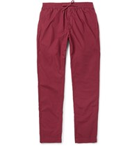Tomas Maier Sporty Riviera Slim Fit Cotton Trousers Red