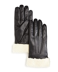 Bloomingdale's The Men's Store At Shearling Cuff Gloves Black