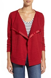Kut From The Kloth 'Beatrice' Asymmetrical Cardigan Dark Cherry