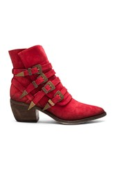 Free People Mason Western Bootie Red