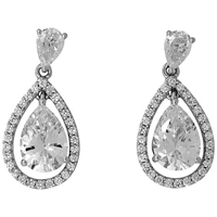 Jools By Jenny Brown Pave Surround Tear Drop Earrings