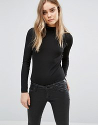 Jdy High Neck Top Black