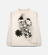 Christopher Kane Stencil Floral Sweatshirt Nude And Neutrals