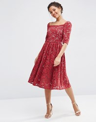 Asos Wedding Lace Prom Dress Wine Red