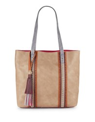 Steve Madden Kaya Faux Leather Tote Taupe