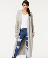 Rachel Rachel Roy Long Pocket Cardigan Soft Heather Grey