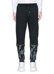 Mcq By Alexander Mcqueen Camouflage Zip Cuff Sweatpants Black