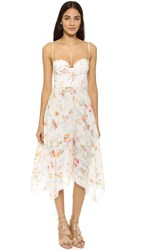 Zimmermann Belle Bustier Dress Floral Embroidery