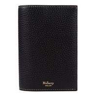 Mulberry Natural Grain Leather Passport Cover Black