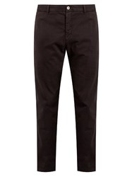 J.W.Brine Owen Slim Leg Stretch Cotton Chino Trousers Dark Grey