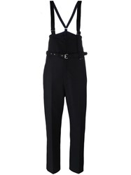 Diesel Black Gold Brace Detail Tailored Trousers Black