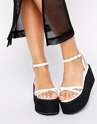 Asos Home Run Heeled Sandals White