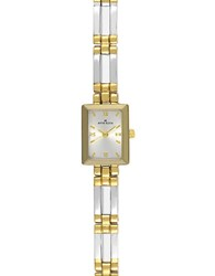 Anne Klein Ladies Rectangle Dial Two Tone Link Bracelet Watch