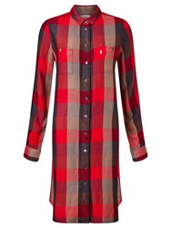 Levi's Workwear Check Dress Sumac Tango Red Plaid