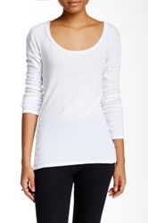American Apparel Long Sleeve Scoop Neck Tee White