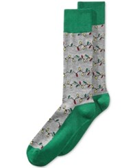 Whimsical Shop Women's Holiday Lights Socks Only At Macy's Dark Grey Heather