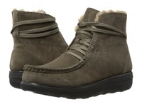 Fitflop Loaff Lace Up Ankle Boot Bungee Cord Women's Boots Olive