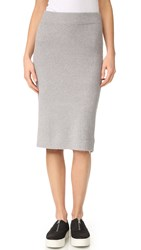 Cupcakes And Cashmere Charleigh Sweater Pencil Skirt Heather Grey