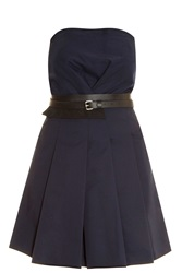 Victoria Beckham Fold Front Dress Navy