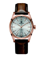 Hamilton Timeless Classic Spirit Of Liberty Auto Rose Goldtone Stainless Steel And Leather Strap Watch Tan Gold