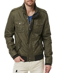 Buffalo David Bitton Jacat Waxed Jacket Army Green