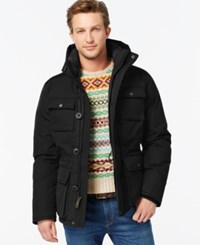 Tommy Hilfiger Hooded Utility Field Coat Black