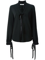 Givenchy Ruffle Collar Blouse Black