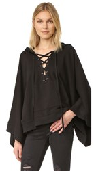 Pam And Gela Lace Up Cape Black