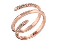 Rebecca Minkoff Pave Multi Row Ring Rose Gold Crystal Ring