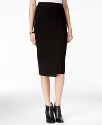 Guess Malaika Faux Wrap Pencil Skirt Jet Black
