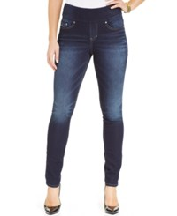 Jag Petite Pull On Nora Knit Skinny Jeans Indigo