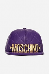 Quilted Moschino Cap Purple