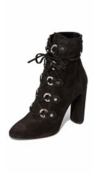 Casadei Suede Booties Black