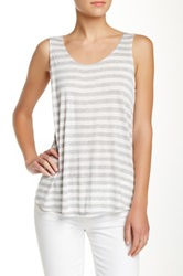Olivia Moon Zipper Back Tank Gray